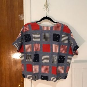 Tops - Boxy oversized patchwork top